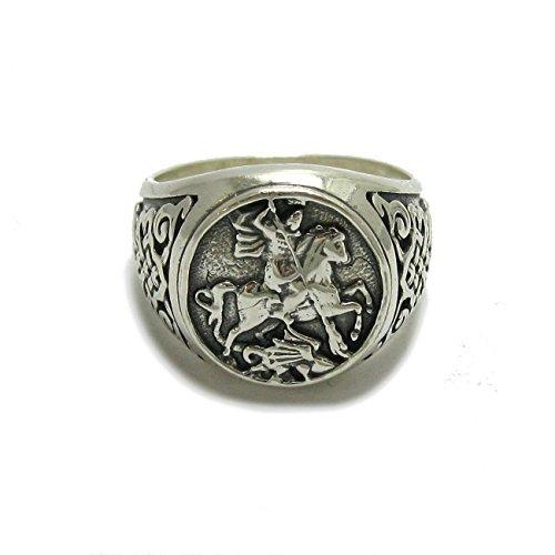 Sterling silber 925 herren ring St. Georg R001779