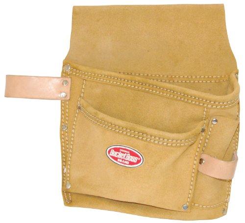 Bucket Boss 54489sp Wildleder Leder Dreitaschen Nagel und Werkzeugtasche mit Gürtel - Tasche Wildleder Leder Nagel