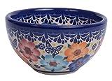 Tradizionale in ceramica polacca, realizzato a mano in ceramica spuntino & DIP o insalatiera d.10cm, 200ml, Boleslawiec Style, m.700 diameter 4.3inch, height 2.36inch Meadow Collection