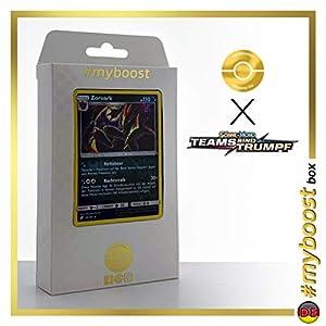 Zoroark 91/181 Holo Reverse - #myboost X Sonne & Mond 9 Teams Sind Trumpf - Box de 10 Cartas Pokémon Alemán