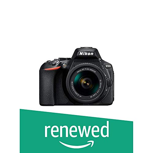 Renewed  Nikon D5600 Digital Camera 18 55mm VR Kit  Black  Digital SLR Cameras