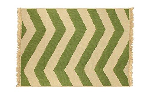Asir Group LLC Ya alfombra, zig zag, verde, 60 x 90 cm