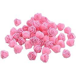 50x Demarkt Rosen Blütenköpfe Deko Blütenköpfe für Hochzeit Wohnzimmer 3-3.5cm Rosa