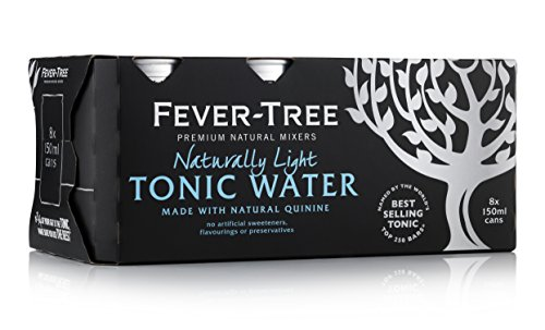 Fever-Tree Naturally Light Tonic Water 8 x 150 ml (Pack of 3, Total 24 Cans) - Light Tonic