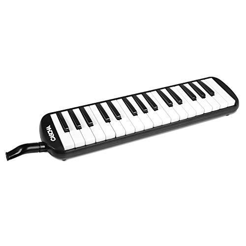 CASCHA HH 2062 Professional Melodica mit Tasche und Mundstück, Melodica für Einsteiger und Fortgeschrittene, schwarz