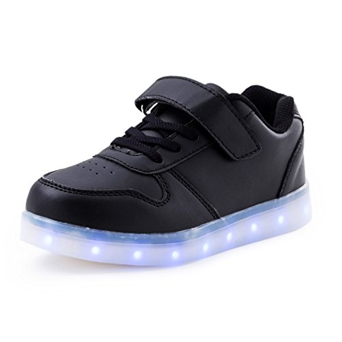 AFFINEST-Kids-Unisex-Nios-USB-Carga-LED-Luz-Luminosas-Flash-Zapatos-Zapatillas-de-Deporte-Sneaker