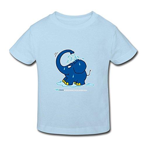 Spreadshirt Sendung Mit Dem Elefanten Kleiner Elefant Dusche Kinder Bio-T-Shirt, 134/140 (9-10 Jahre), - Elefanten-dusche
