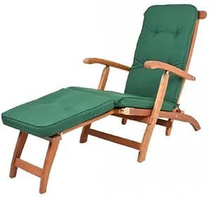 Deckchair Auflage Polsterauflage York UNI Grün