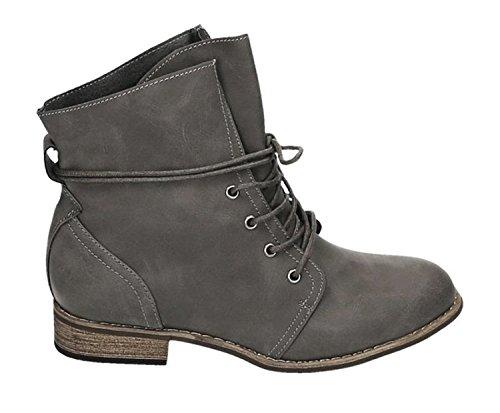Outdoor Damen Trendige Wander 81 Schuhe Stiefel Grau Bequem Stiefeletten Worker Schnürboots 4TIxqSUI