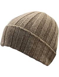 Cappello Unisex in Cashmere e Lana Taglia Unica - Caldo Berretto a Coste  Larghe Invernale Tinta 2814641a1a9f