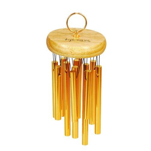 Tycoon Percussion placcato oro 18 Chimes-Sonaglio a vento in legno di quercia thailandese