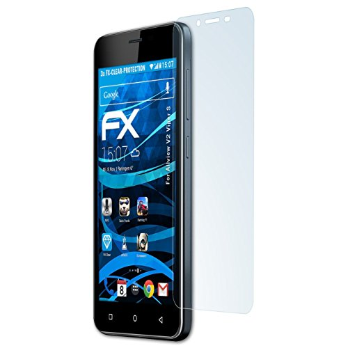 atFolix Schutzfolie kompatibel mit Allview V2 Viper S Folie, ultraklare FX Bildschirmschutzfolie (3X)