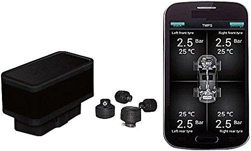Lescars Reifendrucksensor: OBD2-Bordcomputer mit Bluetooth, Diagnose & Reifendruck-Kontrolle (OBD Bordcomputer)