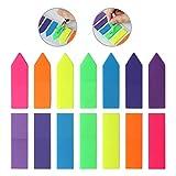 Jespeker transparente Fluorescence Sticky Notes Memo Pad 7couleurs flèche en forme de carré et page marqueurs Pastel 55* 125mm
