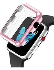 LEEHUR Apple Watch Armband 42mm, Milanese Schlaufe Edelstahl Smart Watch Armbänder mit einzigartiger Magnetverriegelung ohne Schnalle für Apple Watch Armband 42mm Series 1/2/3
