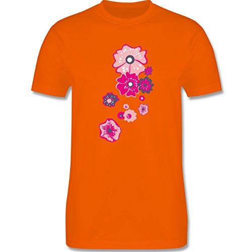 Blumen & Pflanzen - Blumen - Herren Premium T-Shirt Orange