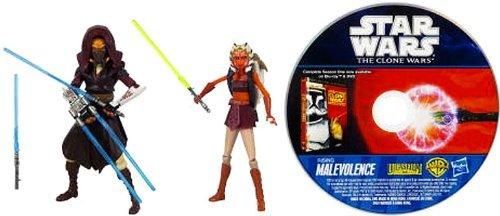 Star Wars The Clone Wars Plo Koon & Ahsoka Tano incl.DVD Rising Malevolence