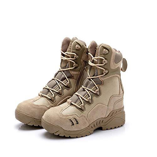 Ultralight Stivali da combattimento Stivali da combattimento stivali scarpe da uomo alto aiuto forze speciali stivali tattici scarpe da allenamento speciali traspiranti Viaggia camminando Yellow-41