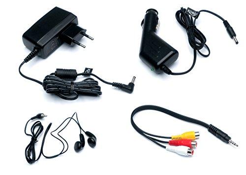 Xoro HSD 1011 Tragbarer DVD-Player mit DVB-T2 Tuner und 25,6 cm (10,1 Zoll) Bildschrim (DVB-T2 H.265 HEVC, USB 2.0, SDHC, Lithium Akku, Teleskop-Antenne, 12V Adapter, Fernbedienung) schwarz - 9
