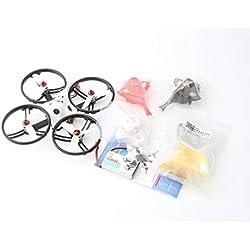 HONZIRY LDARC ET125 V2 5.8G Micro Mini sin escobillas FPV RC Racing Drone Quadcopter con cámara VTX OSD RX2A Pro Receptor Versión PNP (Color: Anillo Negro)