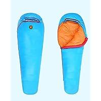 Saco de dormir bolsa 1000g blanco plumas de pato impermeable 3–4temporada al aire libre senderismo camping 0–17°C., azul