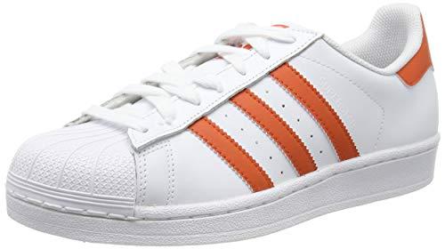 adidas Herren Superstar Sneaker, Weiß Raw Amber/Footwear White 0, 42 EU - Amber Antibakteriell