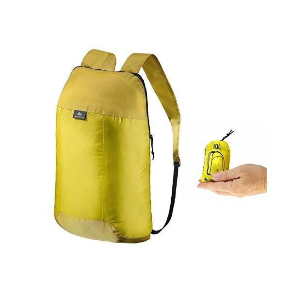 nuovo concetto b1e9c 0da3c QUECHUA, zainetto da escursionismo/zaino per festival all'aperto, comoda  borsa da viaggio ultra pieghevole, compatta, 10 litri