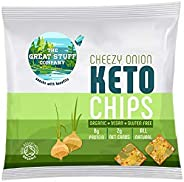 The Great Stuff Keto Chips Organic, Cheesey Onion - 30g