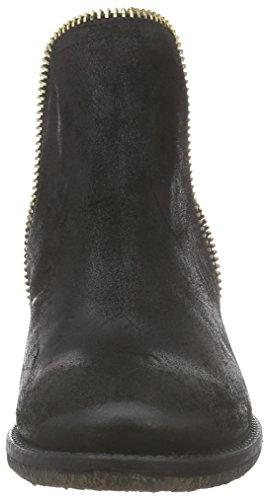 Inuovo FLOSSY, Stivaletti Chelsea con imbottitura leggera, a mezza gamba donna Nero (Schwarz (BLACK-BLACK ELASTIC))
