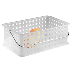 Interdesign basic corbeille rangement panier salle de for Corbeille pour salle de bain