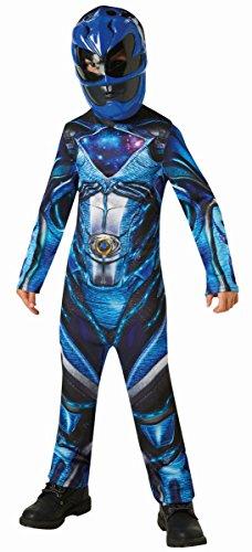 Kinder Kostüm Power Rangers Blauer Ranger Karneval 3 bis 4 - Blaues Power Rangers Kostüm 3 4
