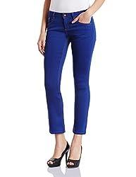 Superdry Womens Flared Jeans (G70001VNF1_Vivid Blue_28)