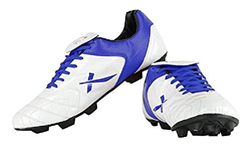 Vector X Fusion Synthetic Football Shoes, Kids Size 13 (White/Blue)