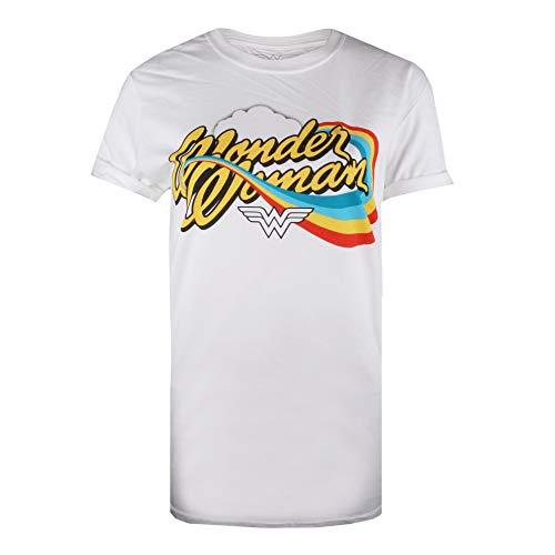 DC Comics Women's Wonder Woman Rainbow T-Shirt, M, L, XL