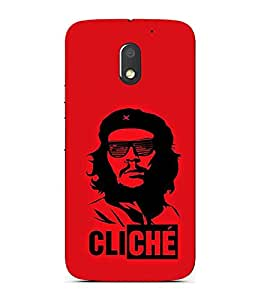 FUSON Guevara In Old Havana 3D Hard Polycarbonate Designer Back Case Cover for Motorola Moto E3 :: Motorola Moto E (3rd Gen)