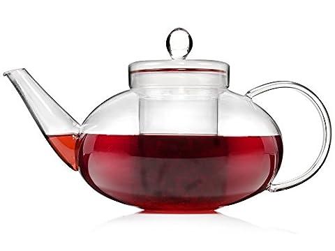 Sänger Teekanne aus Glas mit Teesieb | Füllmenge 1,4 L | Tee ganz nach den eigenen Vorstellungen aufgießen | Stilvolles und individuelles Servieren des