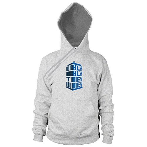 Wibbly Wobbly Timey Wimey - Herren Hooded Sweater, Größe: L, Farbe: grau meliert