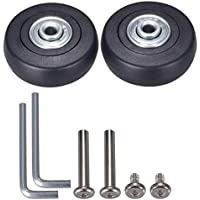 ANCIRS maletas de equipaje ruedas de repuesto con cojinetes de reparación - Un juego de 2 ruedas 50x18 mm (negro)