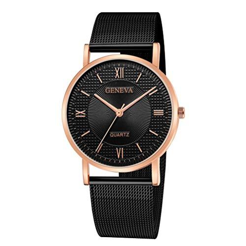 Kinlene Damen Genfer Classic Hot Luxury Edelstahl Analog Quarz Analog Armbanduhr Uhren