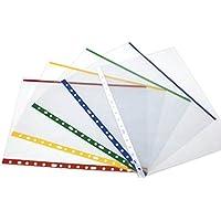 Grafoplas 5501151 - Fundas PP con indicador de color, A4, color rojo