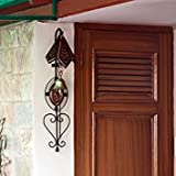 #8: Classic Shoppe Wooden Iron Doorbell Wall Hanging With Brass Bell Home Decorative items and for office item set of 1