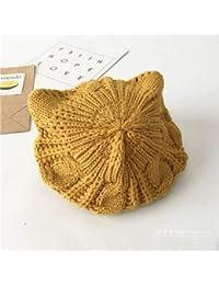 88040a9cc93 Chapeau chaud Chapeaux d automne et d hiver enfants chat oreilles peintre  chapeau bébé