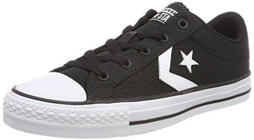 Converse Star Player OX White/Black, Zapatillas Unisex Adulto, Schwarz 001, 39 EU