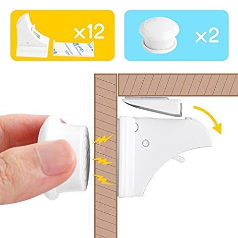 Levin Baby Safety Cabinet Locks Set Magnetic Cupboard Locks for