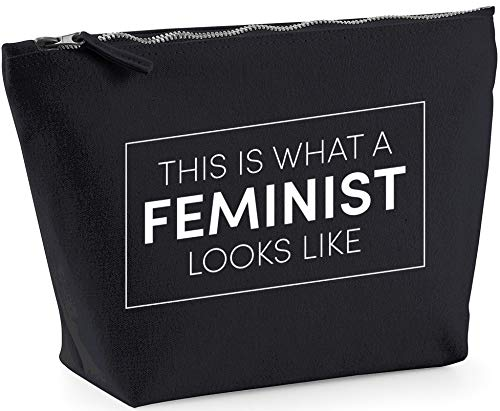 Hippowarehouse This is What a Feminist Looks Like Bolsa de Lavado cosmética Maquillaje Impreso 18x19x9cm