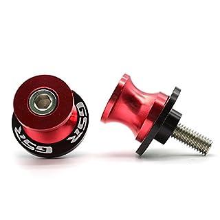 Motorrad CNC Aluminium Ständeraufnahme M8*1,5 Bobbins Montageständer für Suzuki GSR 400 600 750 1000 (Rot)