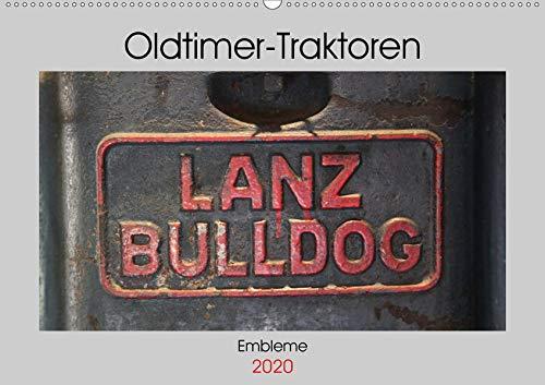 Oldtimer Traktoren - Embleme (Wandkalender 2020 DIN A2 quer): Embleme und Schriftzüge von Oldtimer-Traktoren (Monatskalender, 14 Seiten ) (CALVENDO Hobbys)