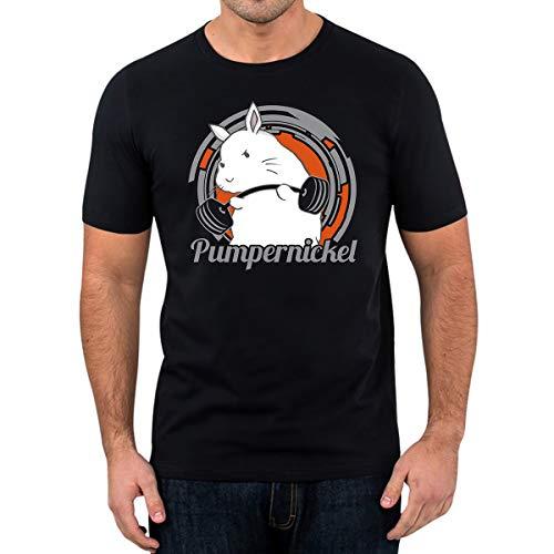 Elbster - T-Shirt Pumpernickel - Süßes T-Shirt - Lustiges T-Shirt, Sport (XXL)