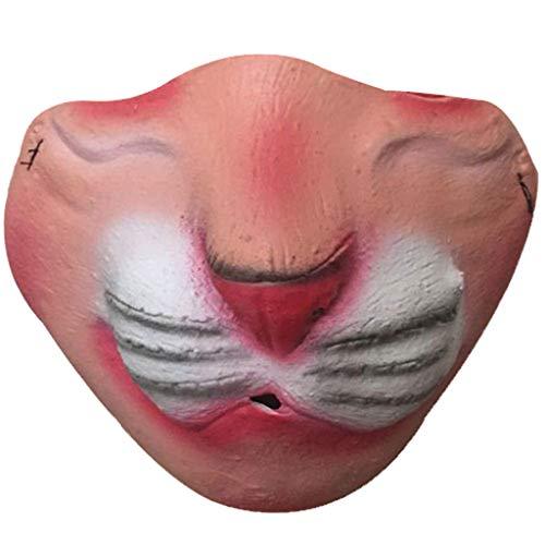Arzt Kostüm Name Tag - Hffan Halloween Maske Hund Komisch Lustige Große Lippen Kopfbedeckung Maske Haustier Lustige Maske Party Kostüm Cosplay Karneval Gesichtsmaske Kopfmask