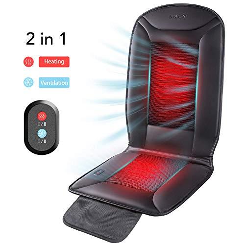 RHSMM 2 in 1 Beheizt Und Kühler Auto Sitzkissen Zubehör Cover Wärmer Und Belüftungsfunktion, Für Car Home Office Chair All-Season Use